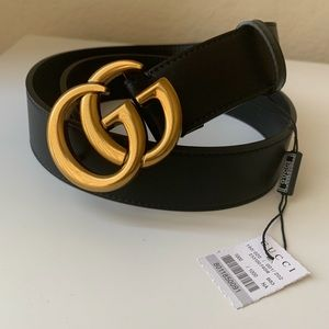 -New Gucci Belt Authentîc Double G Marmot GG
